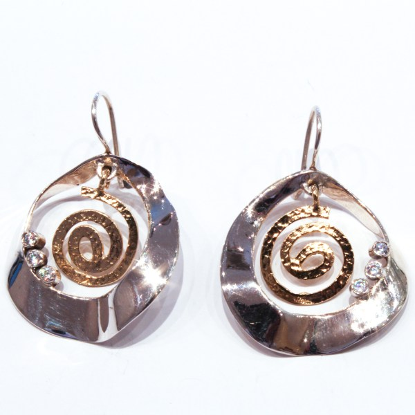 Gold and Silver Contemporary Earrings