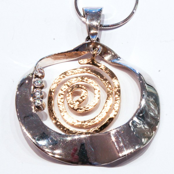 Gold and Silver Handmade Pendant