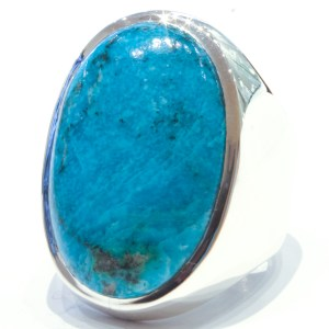 Chrysocolla Handmade Ring in Silver