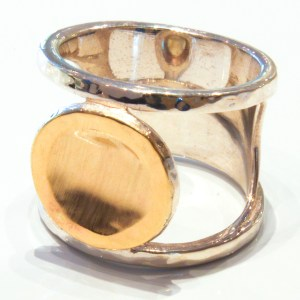 Gold and Silver Contemporary Ring