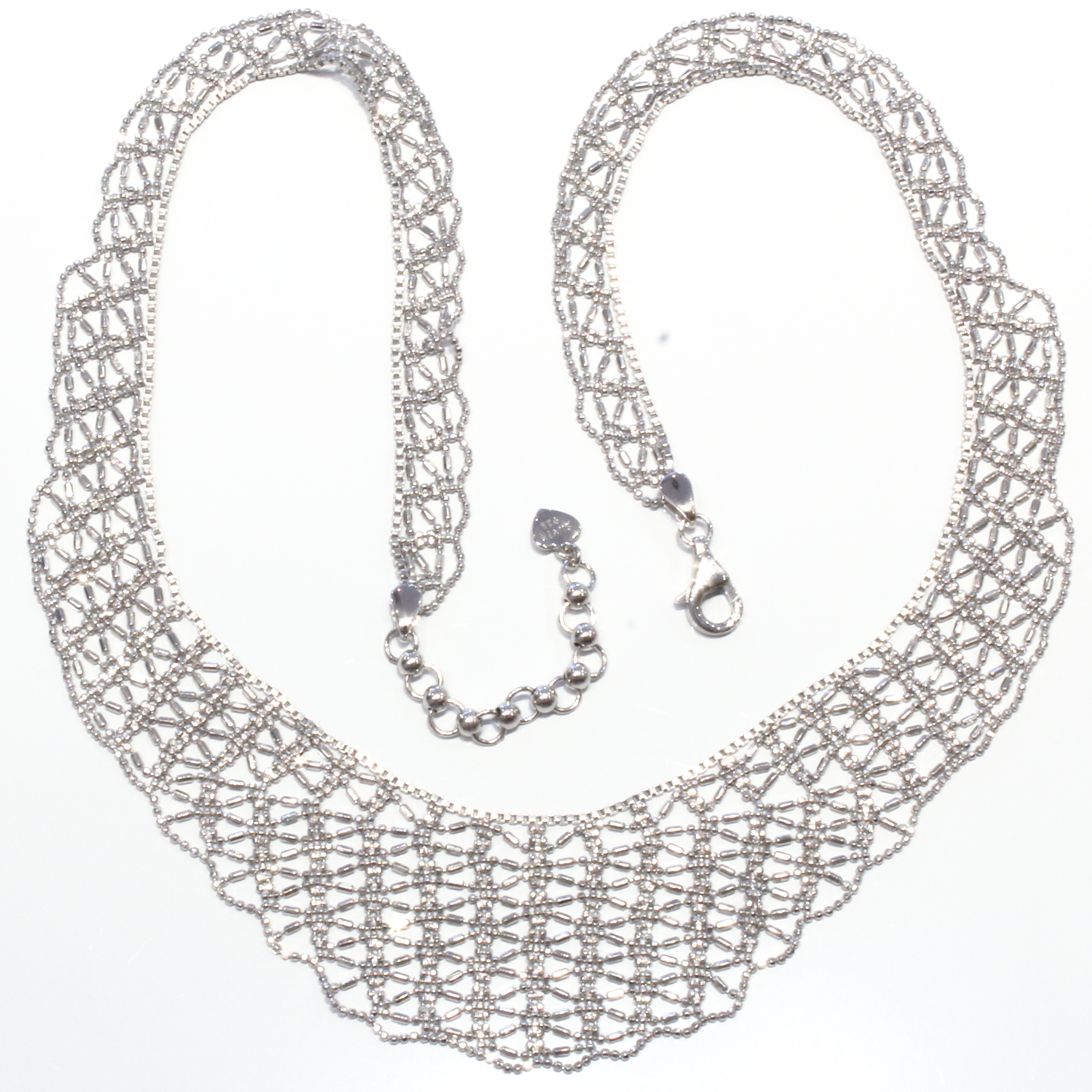watches sterling mesh overstock today silver shipping necklace jewelry italian collar white essentials free product