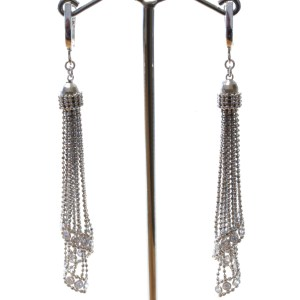 Mesh Elegant Silver Earrings