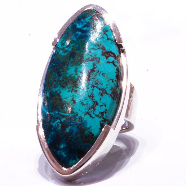 Large Chrysocolla Handmade Ring