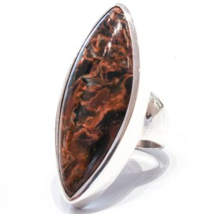 Pietersite Handmade Sterling Silver Ring