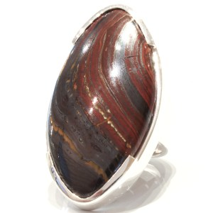 Iron Tiger Eye Handmade Silver Ring