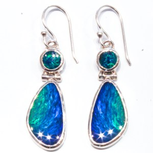 Double Aust Opal Handmade Earrings