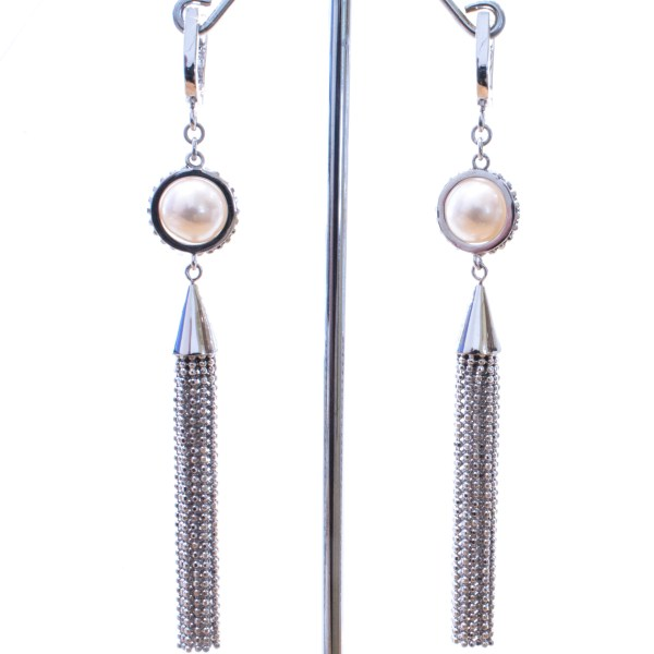 Elegant Pearl Earrings in Sterling Silver