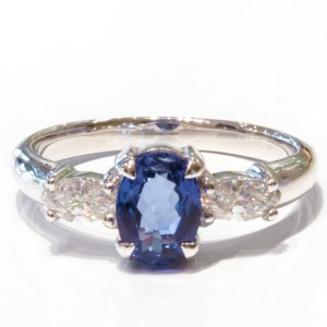 Tanzanite And Diamonds White Gold Ring