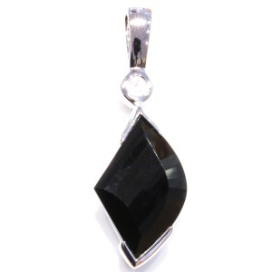 Black Quartz and Rose Quartz Pendant