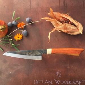 Honesuki kitchen knife carob wood, deer horn