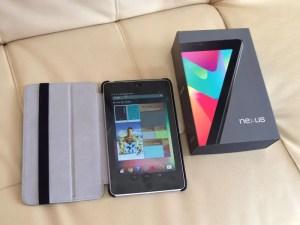 googleのタブレット端末、Nexus7を購入した