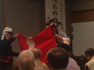 平成上山藩小銃大砲隊:岩井哲氏による「戊辰戦争と上山藩」という講演を聴く
