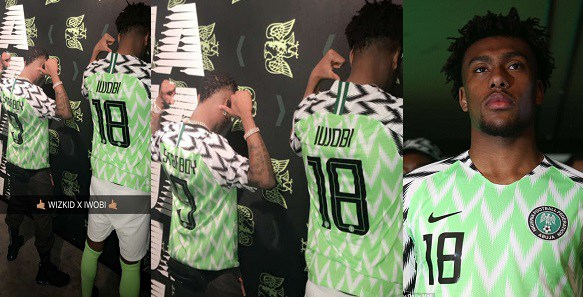 wizkid-alex-iwobi-officially-unveil-new-super-eagles-jersey-photos