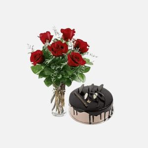 Rose & Cake Surprise