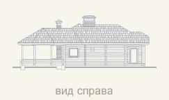 вид справа дома из сруба