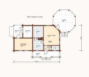 план дома из сруба