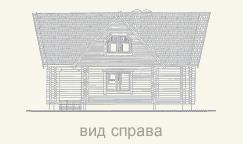 вид справа дома из бруса