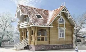 деревянный дом из сруба