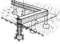 столбчато-ленточный фундамент ТИСЭ