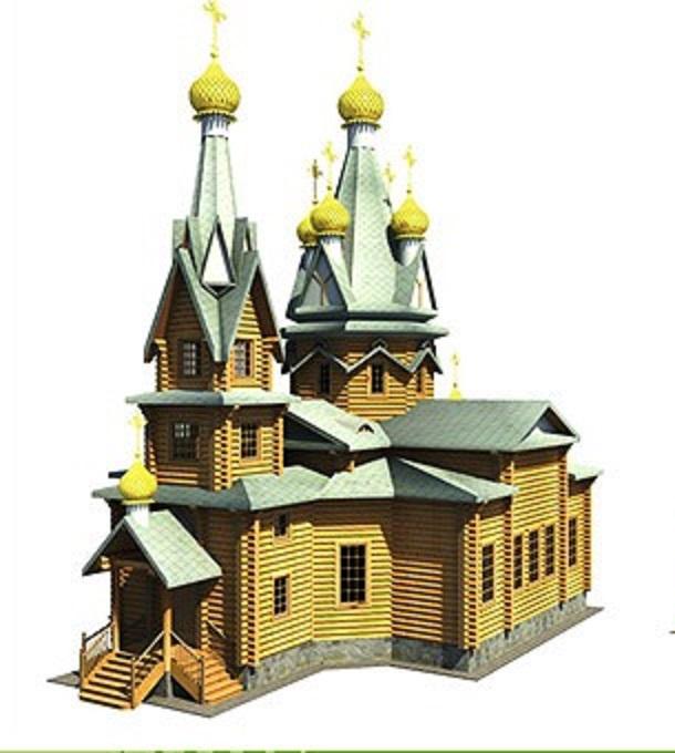 бревенчатый храм