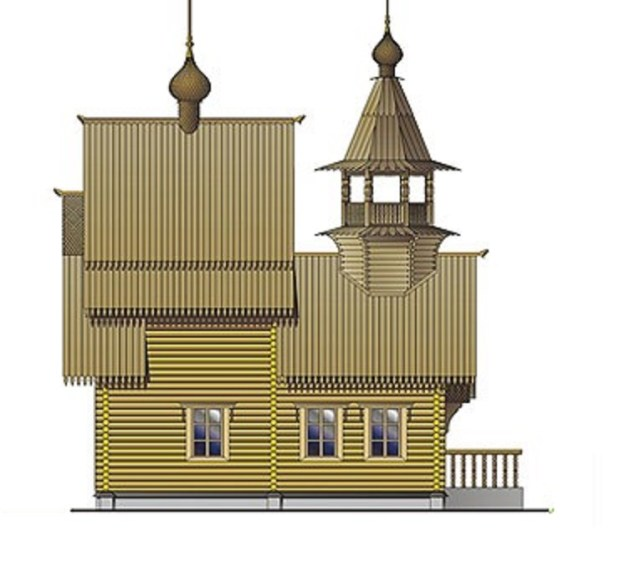 церковь из сруба
