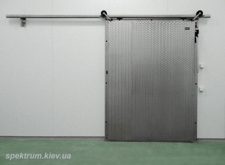 Раздвижные холодильные двери из нержавейки