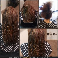 Micro-braids (Micros) for Long Hair - Colors 4, 30 and 27