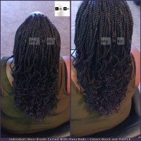 Individual (Box) Braids Curled With Flexi Rods - Colors ...