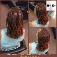 Senegalese Twist with Flexi-Rod Curls - Colors 350 (copper ...