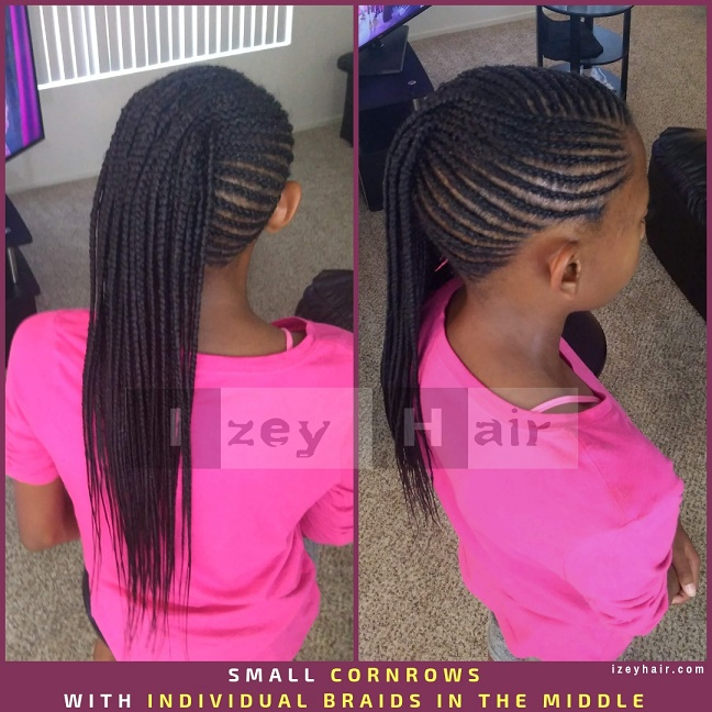 Braids For Kids Small Cornrows With Individual Braids Box