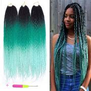 ombre style crochet braids