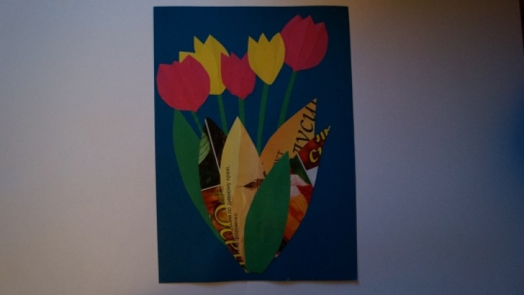 Праздничная цветочная аппликация своими руками