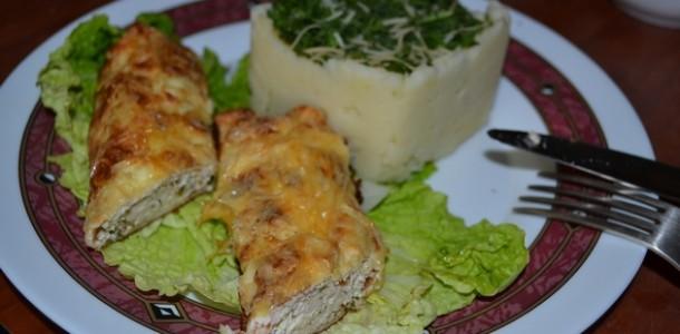 Бризоль с фаршем и ароматным соусом из сметаны
