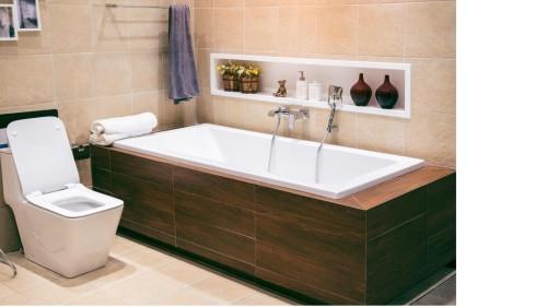pose d un tablier de baignoire
