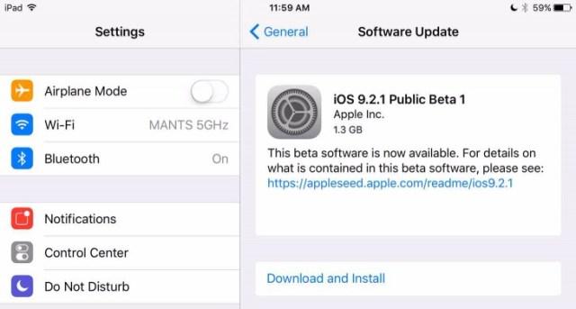 Apple iOS 9.2.1