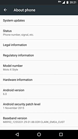 Motorola Moto X Pure Edition Android 6.0