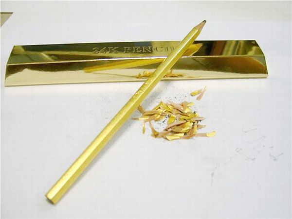 Golden Pencil That Costs Much More Than Many of Your Belongings (4 pics)