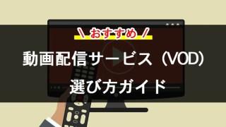 【最新】おすすめの動画配信サービス(VOD)をシンプルに比較【選び方ガイド】