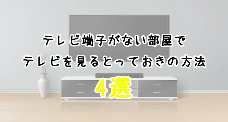 テレビ端子が部屋になくて見れない!←あなたに合った解決方法を教えます