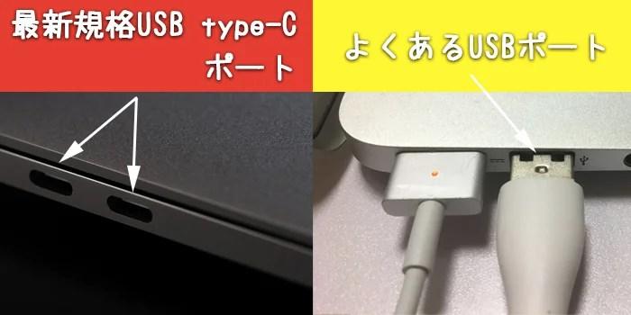 USBポートの違い