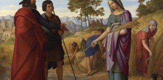 Ruth és Boáz a mezőn - festmény: Julius Schnorr von Carolsfeld, olaj, vászon, 1828; Nemzeti Galéria, London