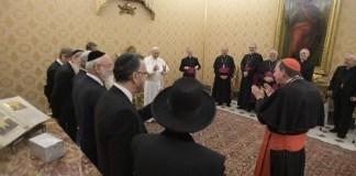 papok es rabbik a vatikanban a papanal