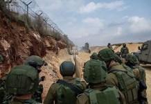 izraeli katonak az eszaki hatarnal