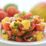mangó saláta paradicsom