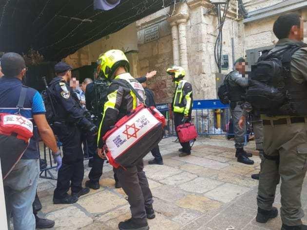 A merénylet helyszíne - fotó: Izraeli Mentőszolgálat