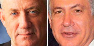 Beni Ganz és Benjamin Netanjahu