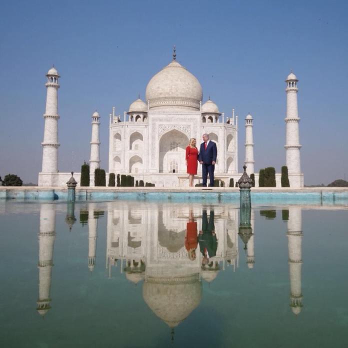 A Netanjahu házaspár Indiában