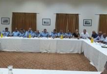 Arab helyhatóságok vezetőinek találkozója magas rangú rendőrökkel Názáretben. Jó volt a légkör - fotó: Izraeli Rendőrség