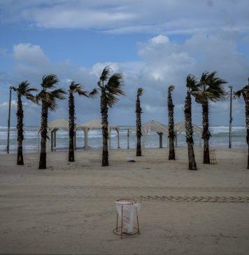 Viharos tengerpart Tel-Avivban - fotó: Bea Bar Kallos