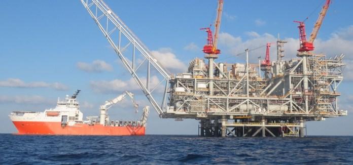 Megkezdték a tenger alatti Leviatán gázmezőn a gázkitermelést